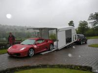 Ferrari F430 being delivered